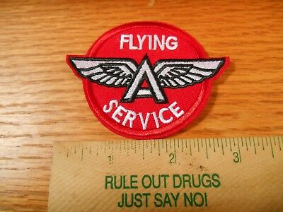 """1 Flying  Winged """"A"""" Service Gas Station Iron on Patch"""