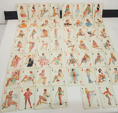 2 x 52 Spielkarten Darling playing cards 50er Jahre Pin-Up Erotik