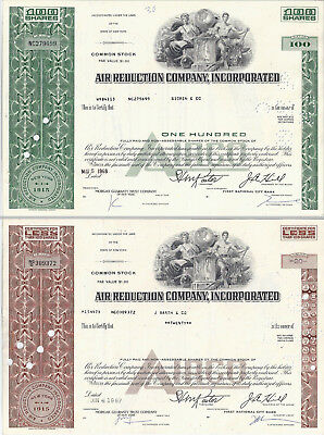 2x Air Reduction Company Incorporated Common Stock historische Wertpapiere