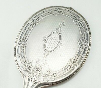 Antique Sterling Silver McChesney Co. Art Nouveau Hand Mirror B4 - I9