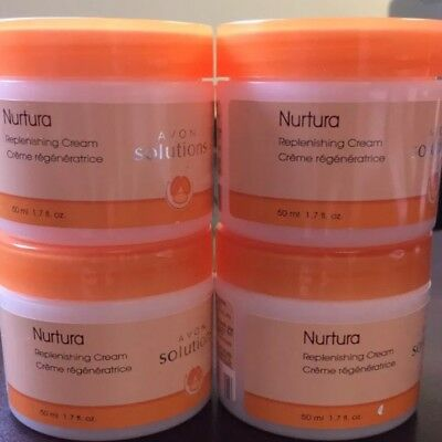 Lot Of 4 Avon Solutions Nurtura Replenishing Cream FREE SHIPPING