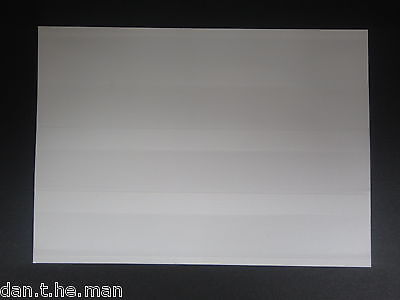 100 x HAWID STAMP APPROVAL / STOCK / SPEC CARDS - 3 STRIP DISPLAY - WHITE