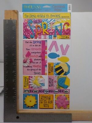 Bo Bunny Press It;s A Spring Thing A Gift Of Love Cardstock Stickers A11084