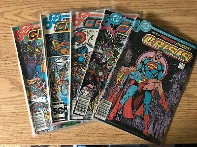 Crisis on Infinite Earths, Lot of 5 (#7, #9, #10, #11, #12)