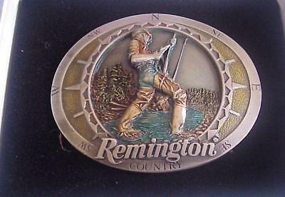 Remington Pewter Belt Buckle-Trout Fly Fishing-New in Original Package