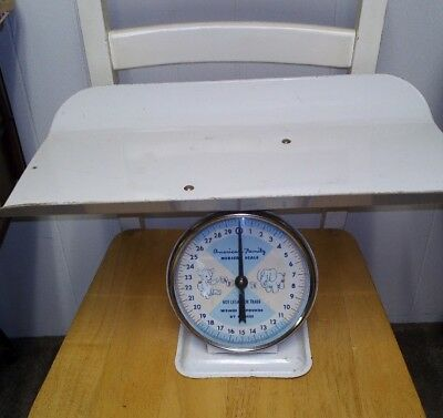 Vintage American Family Nursery BABY SCALE TRAY White