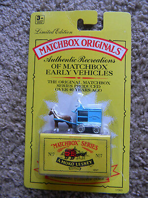 Sealed MAKO Lesney MATCHBOX ORIGINALS SERIES No. 7 The Horse Drawn Milk Float