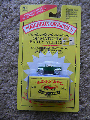 Sealed MAKO Lesney MATCHBOX ORIGINALS SERIES No. 12 The Land Rover
