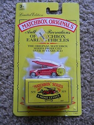 Sealed MAKO Lesney MATCHBOX ORIGINALS SERIES No. 9 The Fire Engine