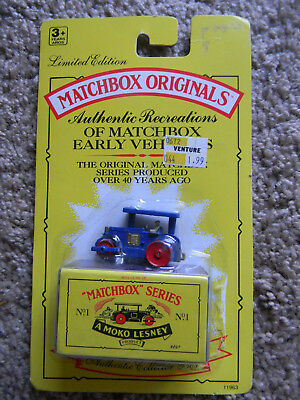 Sealed MAKO Lesney MATCHBOX ORIGINALS SERIES No. 1 Aveling Barford Road Roller