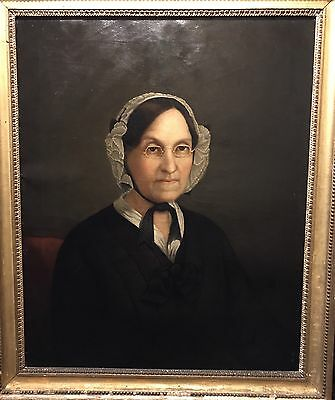 19th Century Antique Oil Painting, Early American