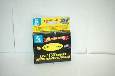 """rrow T-50 9/16"""" (14mm) Staples 1,250 Count #509"""