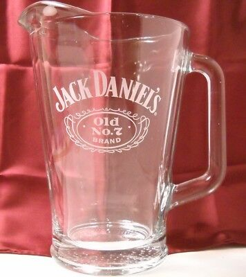Jack Daniel's Old No. 7 Brand - Heavy Glass Pitcher with Etched Logo (O155)
