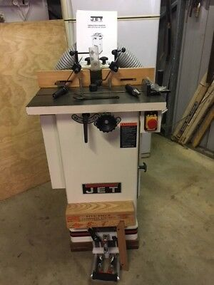 JET Spindle Shaper JWS 22CS, complete with jig and full kitchen cupboard set