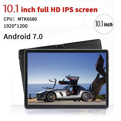 "10.1"" Tablet PC 4G+64G Android 7.0 Dual SIM &Camera Phone Wifi Phablet NEW"