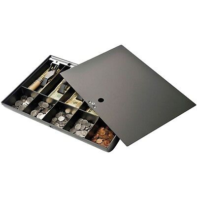 Cash Drawer Tray with Locking Cover, Black, 1 (Quantity) Business Bank Money