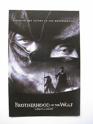 BROTHERHOOD OF THE WOLF 2001 Orig Australian movie postcard French