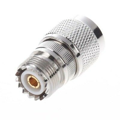 Straight N Male to UHF SO-239 Female Jack Coax Adapter Connector F4Q2