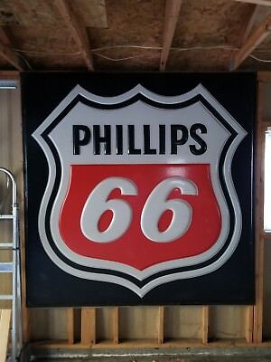 """Large Phillips 66 sign 82"""" by 82"""" Excellent condition"""