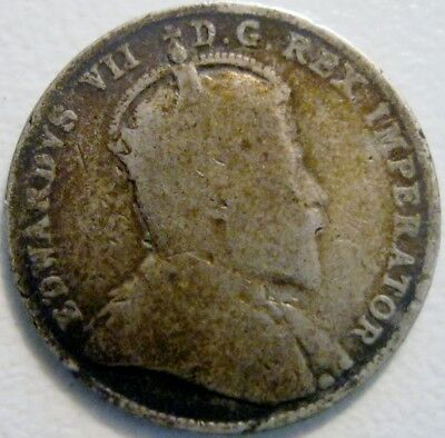 Canada Newfoundland 1904-H 10 Cents Solid Major Details Scarce Low Mintage Date