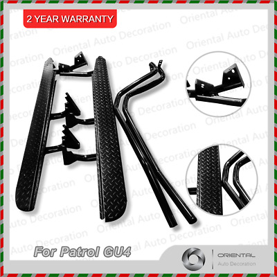 Nissan Patrol GU4 2004-2015 Heavy Duty Steel Side Steps & Brush Bars