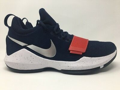 36c5e2ff58e0 Nike PG 1 Olympic USA Navy Red White Paul George 878627 900 Mens Size 10 New