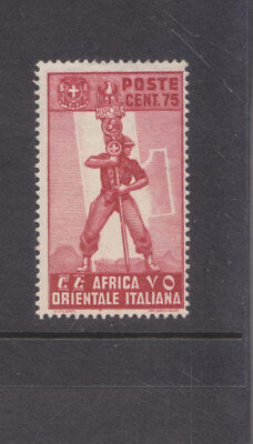 ITALIAN EAST AFRICA-1938-75cRED -MINT HINGE REMOVED-SG 11-$4.50-freepost