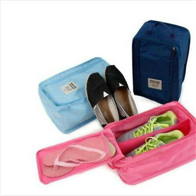Waterproof Travel Shoe Pouch Portable Storage Zipper Tote Bag Organizer AU