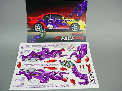 RC 1/10 Car DRIFT Decals EVIL OCTOPUS COMING NOW Decals Stickers *NEW*