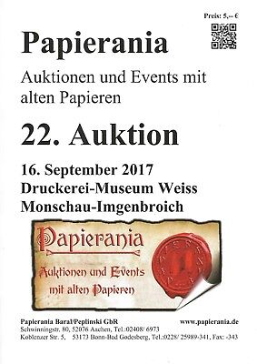 Papierania Auktionskatalog 22. Auktion September 2017