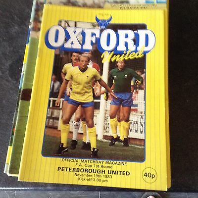 Oxford United V Peterborough United. 19/11/83 F A Cup Rd1
