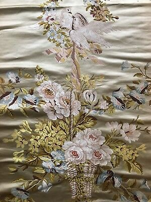 """Rare 19th C French Woven Silk Lampas from """"Catherines II de Russia"""" Museum Piece"""