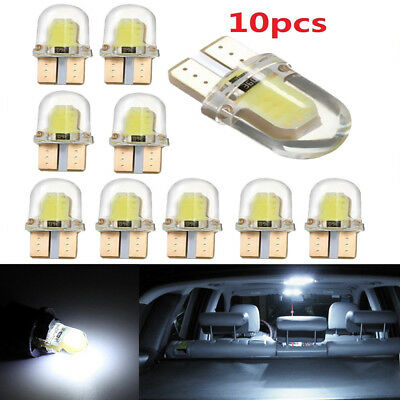 10X T10 194 168 W5W COB 8 SMD LED CANBUS Bright White License Light Bulb 6500K