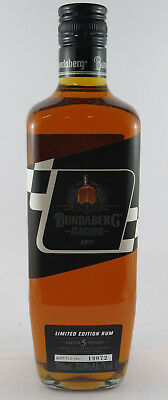 Number 19072 Bundaberg Black Racing V8 Rum Bottle 2011 Bundy Rum