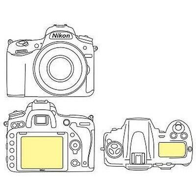 Martin Fields Overlay Plus Screen Protector (Nikon D750) - Includes Top L... New