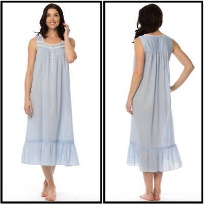 4ae9697c94 NWT  70 EILEEN WEST NIGHTGOWN MEDIUM Blue ENCHANTMENT Ballet Gown Cotton  Lawn
