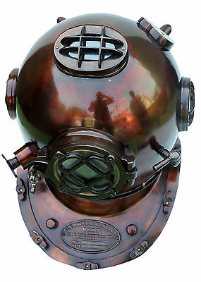 Diving Divers Helmet Solid Copper & Brass 18' U.s Navy Mark V Antique Replica