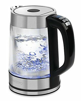 Double Wall Variable Temperature Electric Glass Kettle 1.7L 1500W Fast Boiling