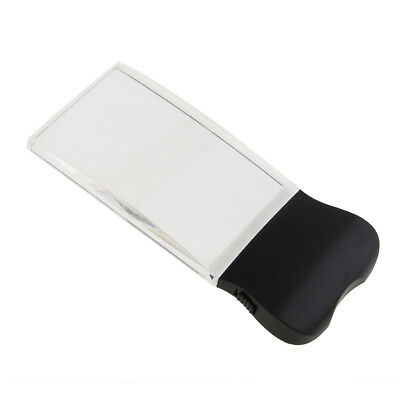 LED Light Magnifying Glasses Rectangle Hand Held Magnifier Reading Tools
