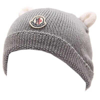 1662W cuffia bimbo MONCLER grey wool hat kid