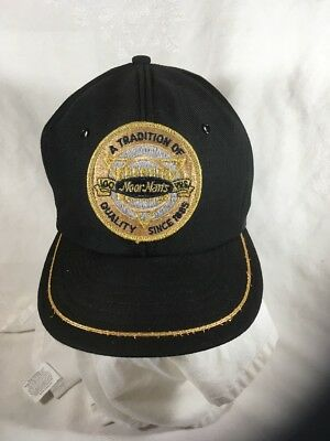 Vintage 100 Years MoorMan's Hat cap gold black snap ag feed farmer Made in USA
