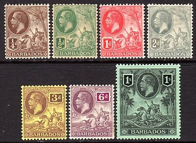 Barbados KGV 1912-16 Selection to 1s M/Mint Cat £85
