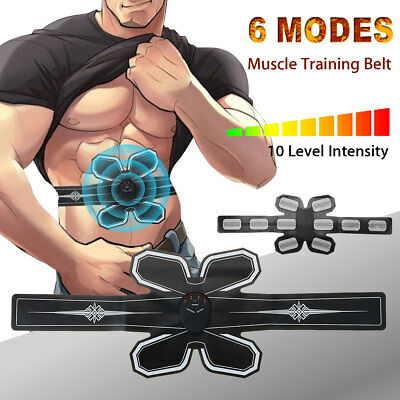AU ABS Muscle Stimulator Trainer Gear Belt Body Shape Abdomen Exercise EMS Fit