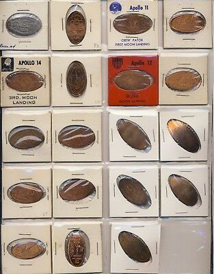 Lot of 19 Elongated Coins - Space Exploration, Skylab, Apollo, Misc - Lot #2