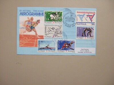 Spain-Barcelona Olympic Games 1992 semipostal set on aerogramme