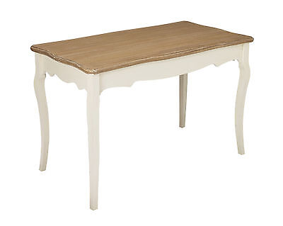 Louis White Painted 1.22m Wide Fixed Top Dining Table French Vintage Shabby Chic