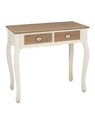 Louis White Painted 2 Drawer Console Table / Hallway Unit - French Shabby Chic