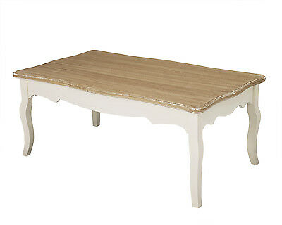 Louis White Painted 109cm Wide Rectangular Coffee Table - French Shabby Chic