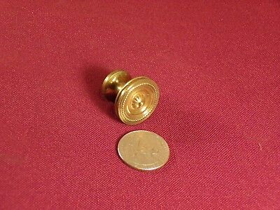 Small Antique Solid Brass Drawer or Cabinet Pull Knob Hardware