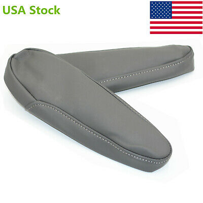 Gray Leather Armrest Arm Rest Cover Upholstery for 2005-2010 Honda Odyssey